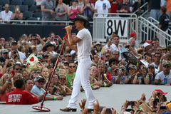 Tim McGraw. Performs live in Chicago for the Brothers of the Sun Tour Royalty Free Stock Images