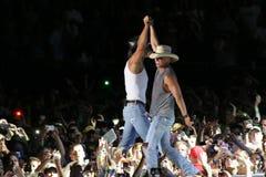 Tim McGraw et Kenny Chesney Images libres de droits