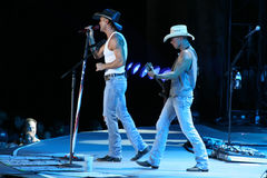 Tim McGraw & Kenny Chesney. Tim McGraw & Kenny Chesney perform live in Chicago for the Brothers of the Sun Tour (7/7/2012 Stock Photography