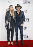 Tim McGraw and Maggie McGraw Stock Photography