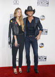 Tim McGraw and Maggie McGraw Royalty Free Stock Photo
