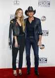 Tim McGraw and Maggie McGraw Stock Photo