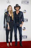 Tim McGraw and Maggie McGraw Stock Images