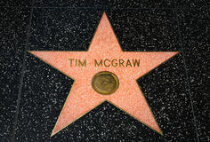 Tim McGraw Star on the Hollywood Walk of Fame Stock Photo