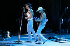 Tim McGraw u. Kenny Chesney Stockfotos