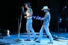 Tim McGraw y Kenny Chesney Fotografía de archivo