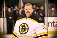 Tim Thomas Boston Bruins makes the save Stock Images