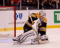 Tim Thomas, Boston Bruins makes the save. Royalty Free Stock Photo