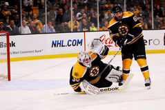 Tim Thomas and Johnny Boychuk Boston Bruins Royalty Free Stock Images