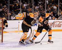 Tim Thomas & Johnny Boychuk, Boston Bruins Royalty Free Stock Photo