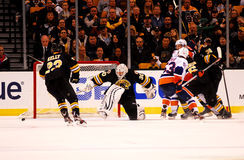 Tim Thomas makes the save. Royalty Free Stock Photography