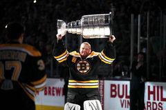 Tim Thomas raising the Stanley Cup Royalty Free Stock Photography