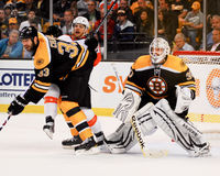 Tim Thomas u. Zdeno-Charaban, Boston Bruins Lizenzfreies Stockbild