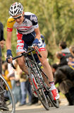 Tim Wellens Lotto-Belisol. Rides alone during the Tour of Catalonia cycling race through the streets of Monjuich mountain in Barcelona on March 24, 2013 Stock Photo