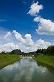 Timah Tasoh Dam. Timah Tasoh lake dam spillway in Perlis Malaysia Royalty Free Stock Photography
