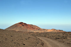 Timanfaya国家公园看法  免版税库存照片