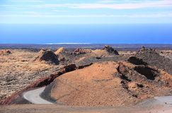 Timanfaya国家公园,兰萨罗特岛,加那利群岛。 库存照片