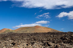 Timanfaya国家公园,兰萨罗特岛 图库摄影