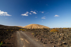 Timanfaya国家公园,兰萨罗特岛 免版税库存照片