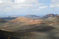 Timanfaya σε Lanzarote στοκ φωτογραφίες