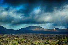 timanfaya национального парка lanzarote Стоковые Фото