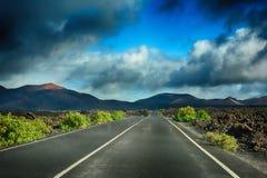 timanfaya национального парка lanzarote Стоковое Фото