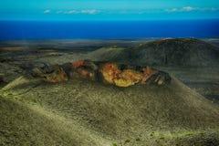 timanfaya национального парка lanzarote Стоковое Изображение RF