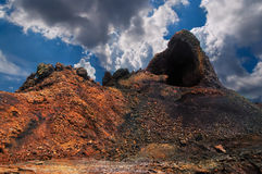 timanfaya för brandlanzarote berg Fotografering för Bildbyråer