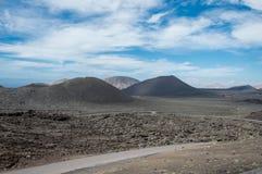 timanfaya för 2011 canarian öjuni lanzarote nationalpark Arkivfoto