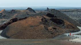 timanfaya för 2011 canarian öjuni lanzarote nationalpark Arkivbilder