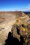 Timanfaya  in los volcanic r Stock Photography