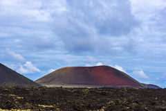 Timanfaya mountains of fire Lanzarote Royalty Free Stock Photography