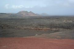 Timanfaya nationaal park, lanzarote, canaria eilanden Royalty-vrije Stock Fotografie