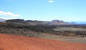 Timanfaya Nationaal Park, Lanzarote, Canarische Eilanden. Royalty-vrije Stock Foto's