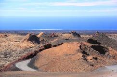 Timanfaya Nationaal Park, Lanzarote, Canarische Eilanden. Stock Foto
