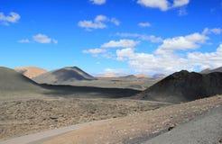 Timanfaya Nationaal Park, Lanzarote, Canarische Eilanden. Royalty-vrije Stock Afbeeldingen