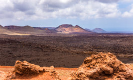 Timanfaya national park and coast of Lanzarote Stock Images