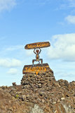 Timanfaya National Park Entrance Stock Image