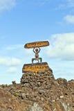 Timanfaya National Park Entrance Stock Image