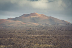 Timanfaya National Park in Lanzarote, Canary Islands, Spain Stock Photos