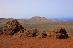 Timanfaya national park in Lanzarote, Canary islands Stock Images
