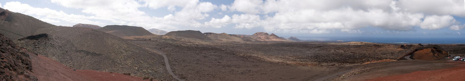 Timanfaya National Park. Lanzarote is a ring of dormant volcanos on Lanzarote in the Canary Islands Stock Images