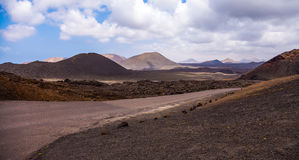 Timanfaya national park and Northen part of Lanzarote Royalty Free Stock Images