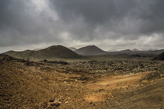 Timanfaya nationalpark - Lanzarote Fotografering för Bildbyråer