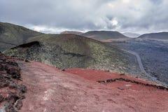 Timanfaya nationalpark - Lanzarote Royaltyfria Foton