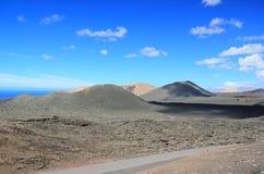 Timanfaya nationalpark, Lanzarote, kanariefågelöar. Fotografering för Bildbyråer