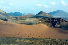 Timanfaya Park. Ansicht des Vulkans Stockbilder