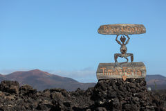 Timanfaya Park on Lanzarote Stock Photography
