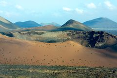 Timanfaya park. view of the volcano Stock Images