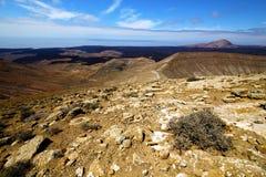 Timanfaya  rock   hill and summer Royalty Free Stock Photo